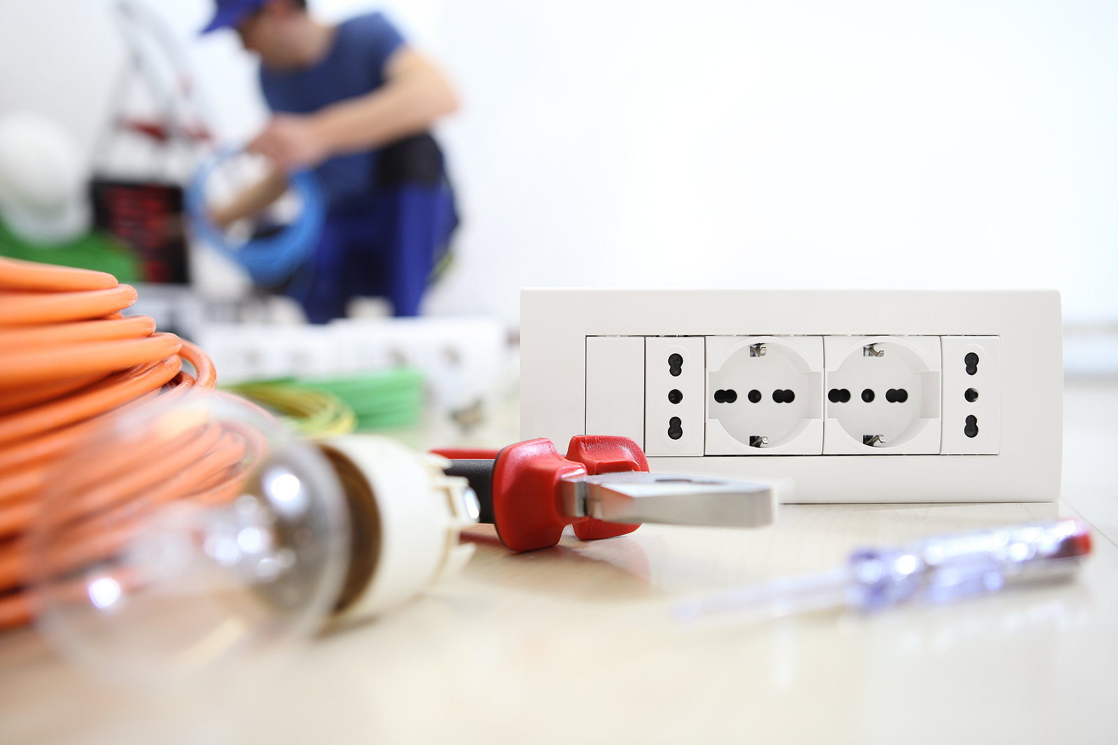 Electrician Work With Electrical Equipment