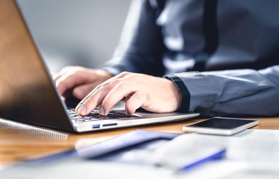 SEO specialist doing a website audit